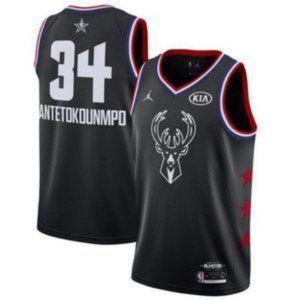 Bucks Giannis Antetokounmpo Black All Star Jersey